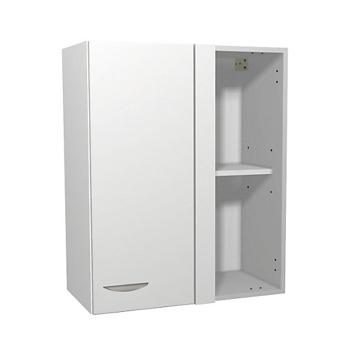 735mm kitchen cabinets dakota kitchen corner wall unit matt white 600mm x 735mm x 10357
