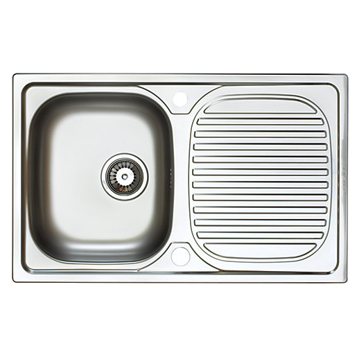 Astracast Aegean Compact 1 Bowl Stainless Steel Inset Sink ...