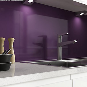Alusplash 3000 x 545mm Splashback Aubergine