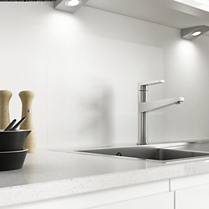 Alusplash 3000 x 545mm Splashback Ice White