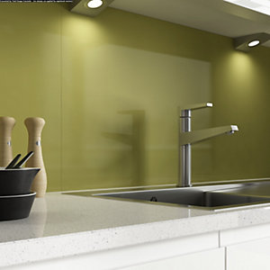 Alusplash 900 x 800mm Splashback Bright Olive