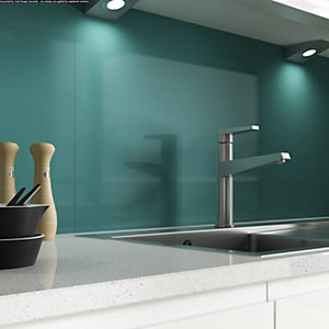 Alusplash 900 x 800mm Splashback Teal