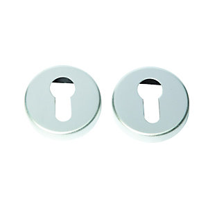 Escutcheon Euro Profile Satin Anodised Aluminium (Pair) FD062