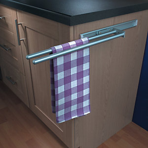 2 Arm Aluminium Towel Rail