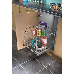 Pull Out Storage with 2 Shelves (300mm Base)