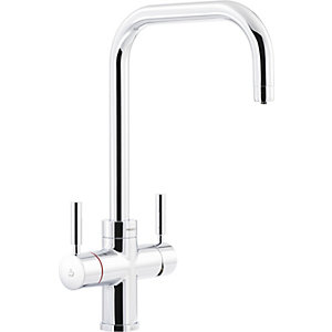 Abode Protex 3 in 1 Steaming Water Monobloc Tap Chrome