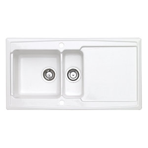 Astracast Ardenne 1.5 Bowl Ceramic White Inset Sink