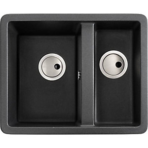 Abode Matrix 1.5 Bowl Undermount Black Composite Kitchen Sink