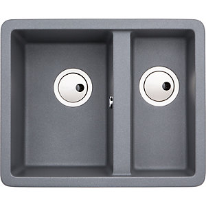 Abode Matrix 1.5 Bowl Undermount Grey Composite Kitchen Sink