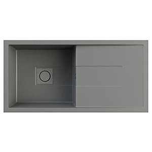 Astracast Sigma Single Bowl Composite Sink Graphite Grey
