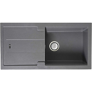 Carron Phoenix Bali 1 Bowl Inset Grey Composite Kitchen Sink