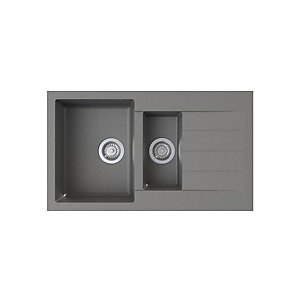 Astracast Helio 1.5 Bowl Grey Composite Sink HE15RXTRAVSK