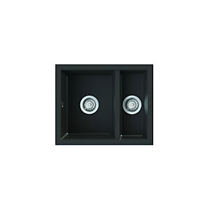 Astracast Onyx Undermount 1.5 Bowl Black Composite Sink O x 15RZTRAVSK