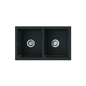 Astracast Onyx Undermount 2.0 Bowl Black Composite Sink O x 20RZTRAVSK
