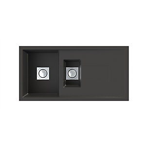 Astracast Sigma 1.5 Bowl Black Composite Sink SM15RZTRAVSK