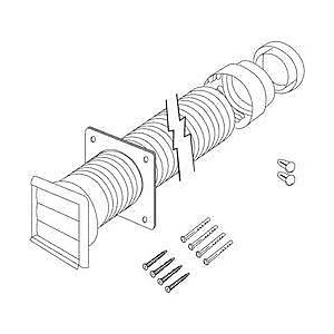 Cooker Hood Ducting Kit 3m 125mm Diameter - CDK5FR