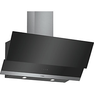 Bosch Serie 4 90cm Angled Glass Hood Touch Control Black DWK095g60B