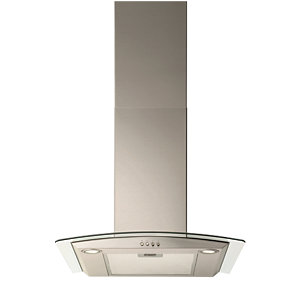 neue 60 cm Chimney Hood Curved Glass Stainless Steel - GCH601SS