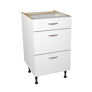 Self Assembly Kitchens Dakota 500 3 Drawer Base