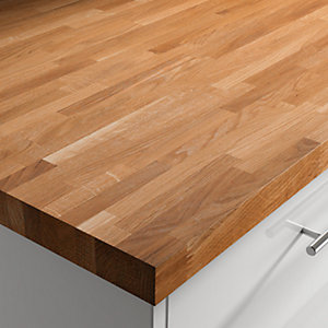 Engineered Silk Wood Oak Worktop 3050mm x 600mm x 40mm ENGSW3050600
