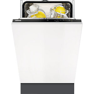 Zanussi Integrated 9 Place Dishwasher White 45cm ZDV12004FA