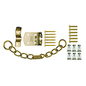 High Security Door Chain Brass