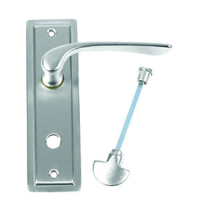 Urfic Como Bathroom Lever on Backplate Satin Nickel