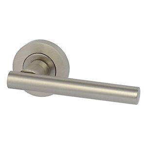 Varthern Lever Handle On Rose Satin Nickel 900.20.066