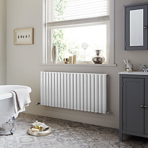 Dorney Double Horizontal White Radiator 600mm x 592mm