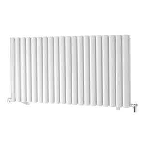 Dorney Single Horizontal White Radiator 600mm x 592mm