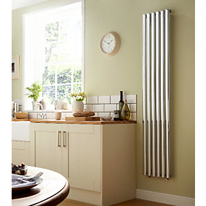 Dorney Vertical Chrome Radiator 1800mm x 352mm