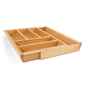 Extendable Cutlery Tray 450-600mm Ash Effect