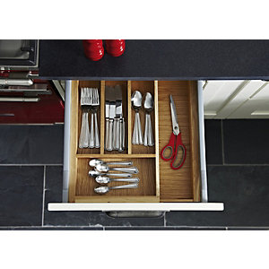 Extendable Cutlery Tray 800-1000mm Ash Effect