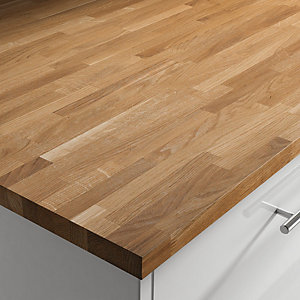 Solid Herregards Oak Upstand (Oiled) 3000 x 70 x 18