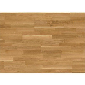Engineered 3 Strip Matt Lacquered Natural Oak Uniclic 2200 x 190 x 14mm Pack Size 2.508m2