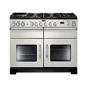 Rangemaster Excel Dual Fuel Range Cooker 110 cm Ivory with Chrome Trim