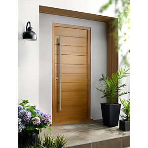 Oslo External Oak Veneer Door 1981 x 838mm + External Oak Veneer Door Frame