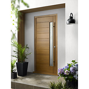 Stockholm External Oak Veneer Door 2032 x 813mm + External Oak Veneer Door Frame