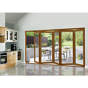 External 54mm Folding Doors Prefinished Solid Oak 12 Ft (3.6M)