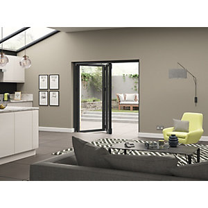 External Aluminium Grey Left Opening Bifold Door Set 1790mm wide