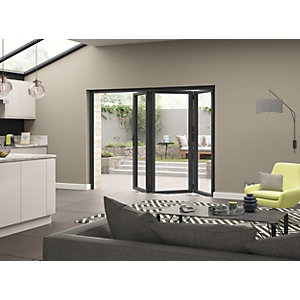External Aluminium Grey Left Opening Bifold Door Set 2690mm wide