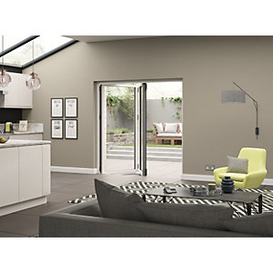 External Aluminium White Left Opening Bifold Door Set 1790mm wide