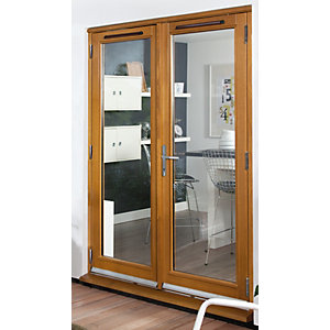 54mm French Doors Pattern 10 Fully Finished Solid Oak 5 Ft (1.5M)
