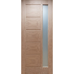 External Modena Oak Glazed Door