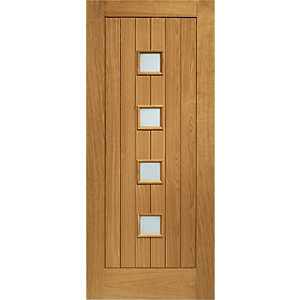 External Siena Oak Double Glazed Door