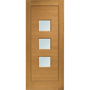 External Turin Oak Double Glazed Door