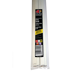 Intumescent Fire Seal White 15 x 4 x 1005mm Single Door Pack FD286