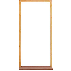 External 30 Inch Softwood Weather Stripped Door Frame with Sill Outward Opening - FX26M