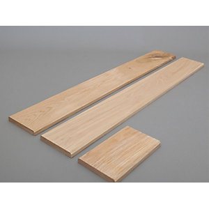 Solid Oak External Door External Ledged Convertion Frame