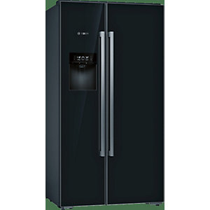 Bosch Serie 8 Side by Side Style Fridge Freezer Black with Home Connect - KAD92HBFP